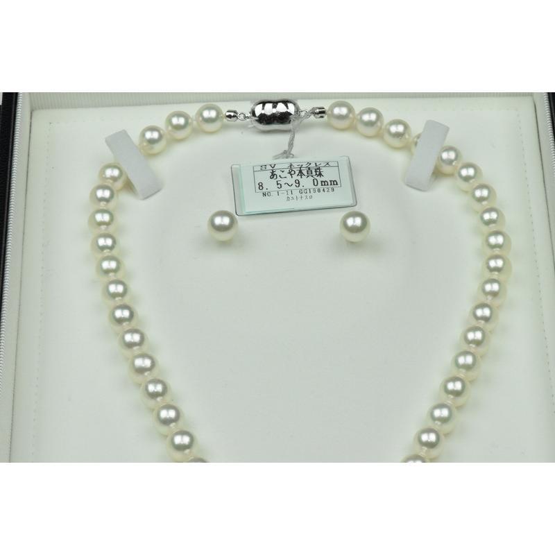 新品【花珠真珠】8.5mm-9.0mm パールネックレス 鑑別|osaka-jewelry|02