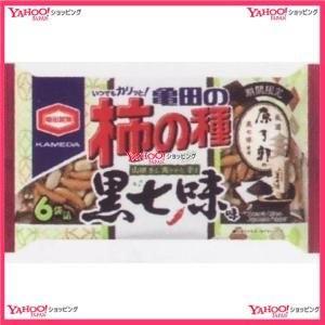 182G 亀田の柿の種黒七味味6袋詰