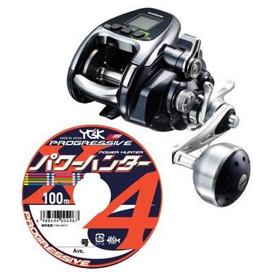 送料無料!! シマノ shimano 2016 フォースマスター 1000 PEライン3号400mセット! よつあみパワーハンター プログレッシブ 電動リール