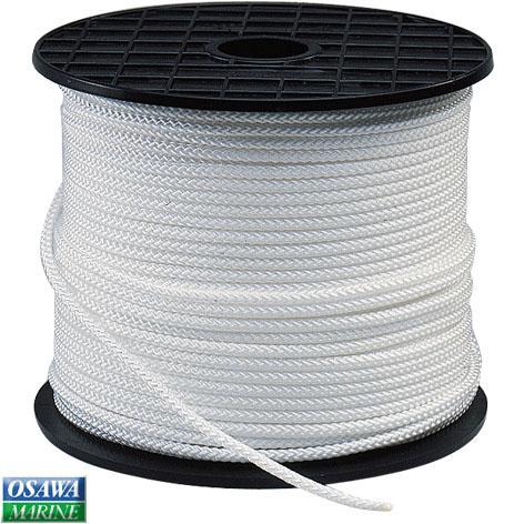 多目的ロープ ランヤード ラニヤード ホワイト 4mm×200m 8つ打ち ナイロン