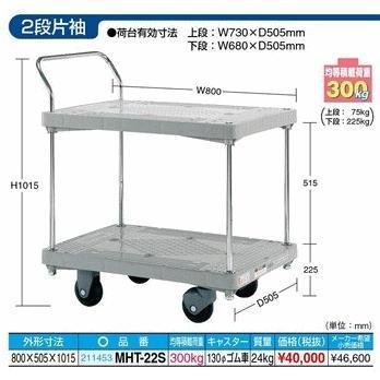 【代引不可】 サカエ 台車 樹脂ハンドカー MHT-22S