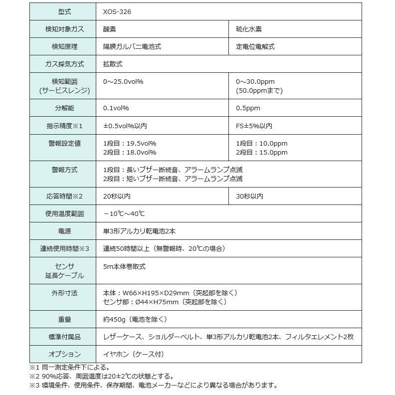 新コスモス電機 酸素・硫化水素濃度計  XOS-326|osc-shop|03