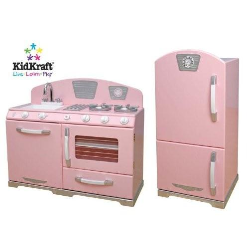 Kidkraft Retro Kitchen And Refrigerator In Pink Shop Clothing Shoes Online