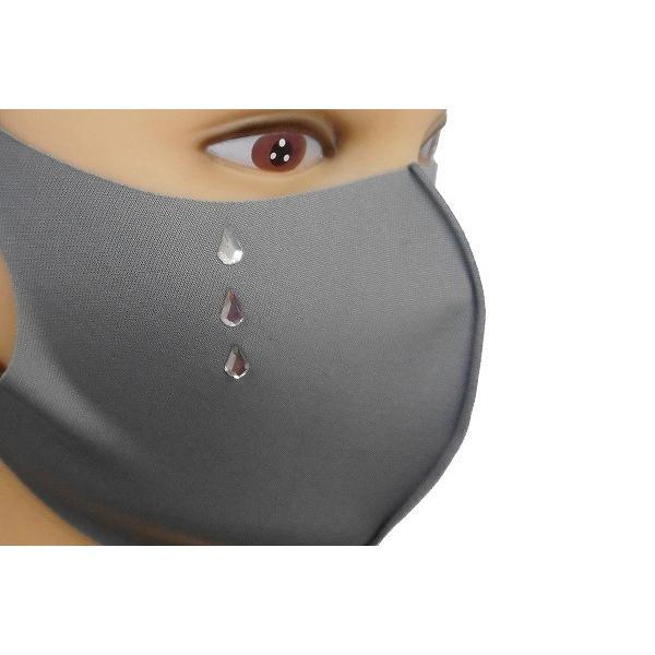 Shareki マスクアクセサリー マスクホットフィックス  キラキラ ラインストーン ホットフィックスマスク ファッションマスク 涙 ナミダ なみだ hf-namida-mask|osharekizoku|06