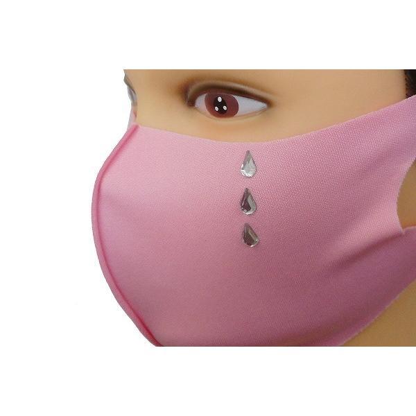Shareki マスクアクセサリー マスクホットフィックス  キラキラ ラインストーン ホットフィックスマスク ファッションマスク 涙 ナミダ なみだ hf-namida-mask|osharekizoku|07