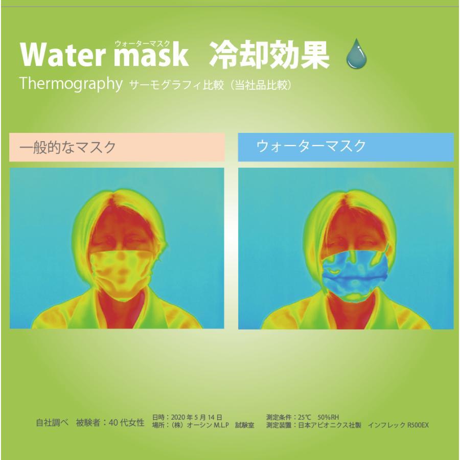 ゴムタイプ 1枚入り オーシンウォーターマスクさらさらメッシュ 水でヒンヤリ 洗える 布マスク 大人用 子供用 日本製 夏用 配送:ゆうパケットのみ|osin|05