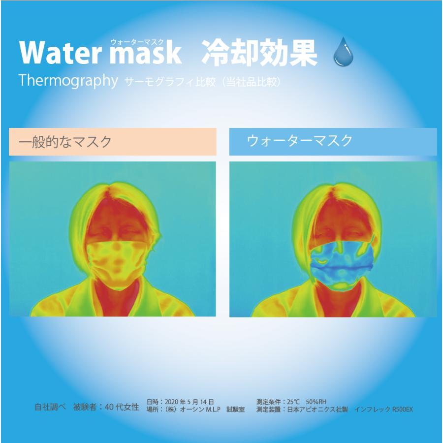 ひもタイプ オーシンウォーターマスク さらさらメッシュ 2枚入り 水でヒンヤリ 洗える 布マスク 大人用 子供用 小さめ 日本製 夏用 呼吸がしやすい|osin|05