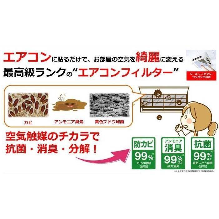エアークエスト 家庭用エアコン向けフィルター 2枚入り 38×80cm 花粉対策 osoujinoyakata 04