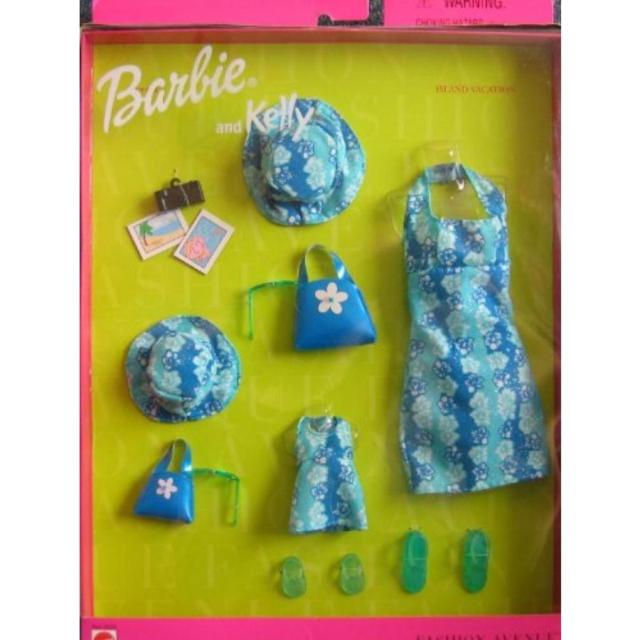 バービー人形 着せ替え おもちゃ Barbie and Kelly Island Vacation Fashion Avenue Matching Outfits (1999) 輸入品