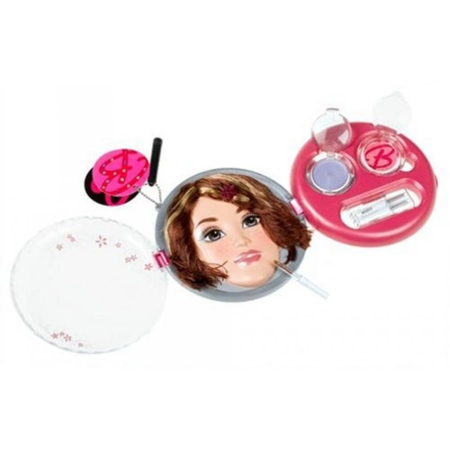 バービー人形 おもちゃ 着せ替え Barbie Fashion Fever Compact Styling Face - Brunette with Highlights 輸入品