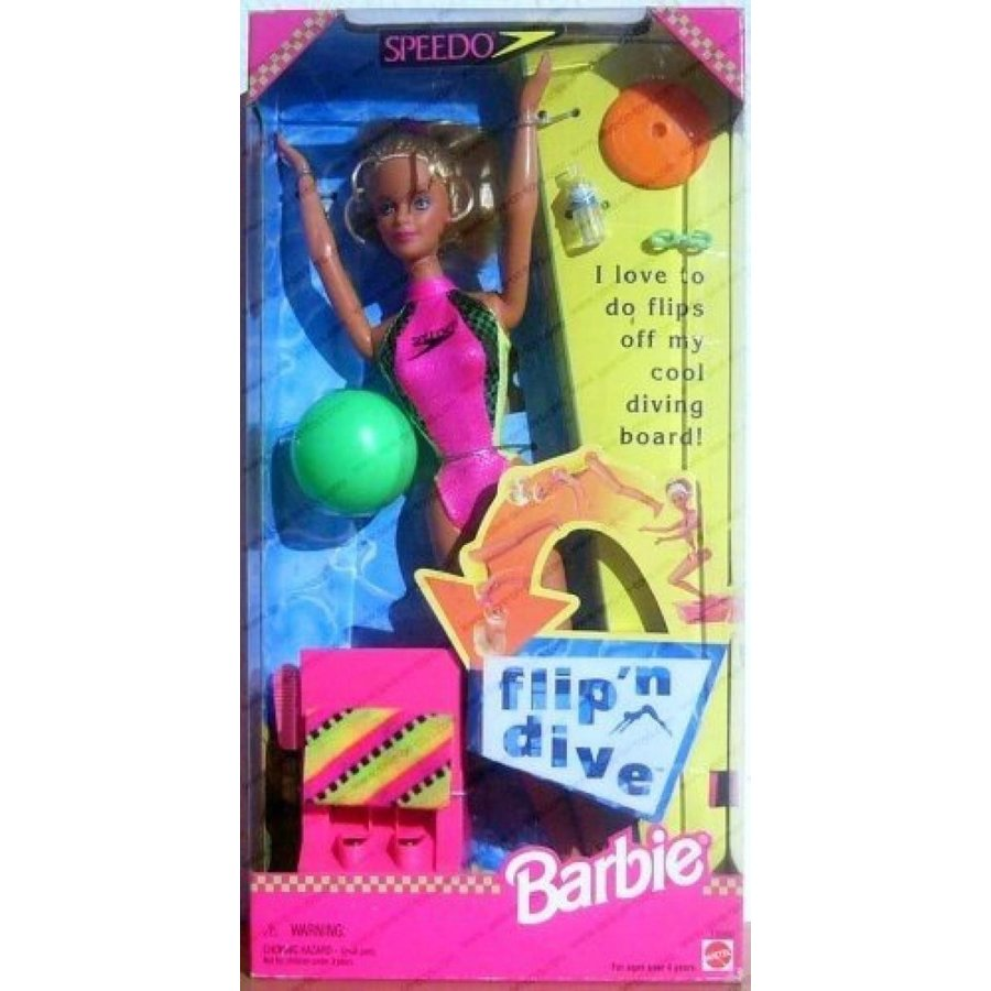 バービー人形 着せ替え おもちゃ Barbie Flip'n Dive 輸入品