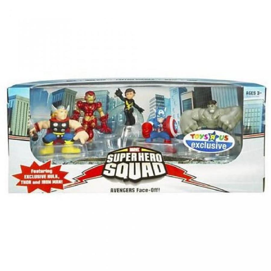 アベンジャーズ おもちゃ フィギュア Marvel Superhero Squad Exclusive Avengers Face-Off 5-Pack (Hulk, Iron Man, Ca... 輸入品