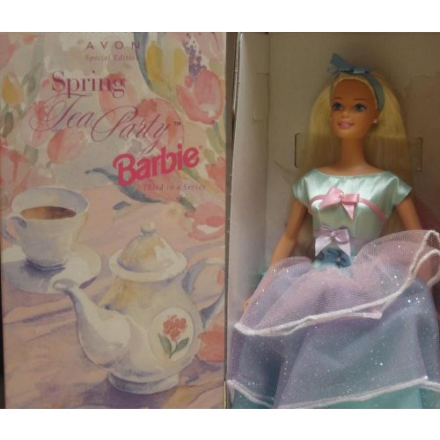 バービー人形 着せ替え おもちゃ Special Edition Spring Tea Party Barbie, Blonde, Avon Exclusive 輸入品