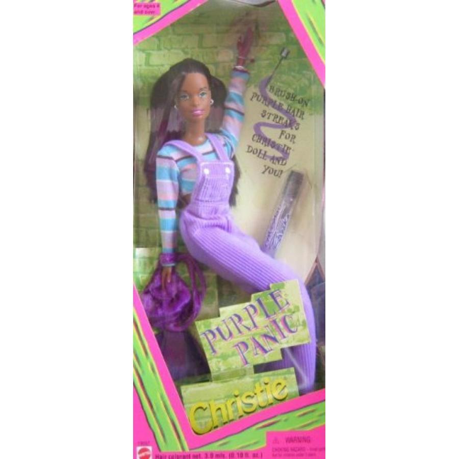 バービー人形 着せ替え おもちゃ 紫の Panic Christie Barbie Doll 輸入品