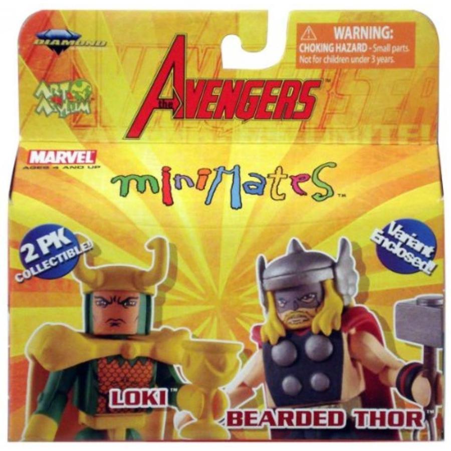 アベンジャーズ おもちゃ フィギュア Marvel Minimates the Avengers: Bearded Thor and Loki 輸入品