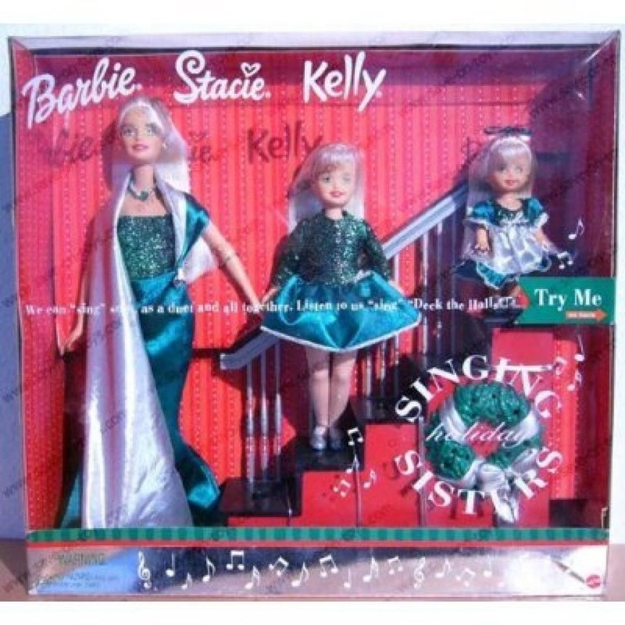 バービー人形 おもちゃ 着せ替え Barbie Singing Holiday Sisters: W Barbiel, Stacie & Kelly