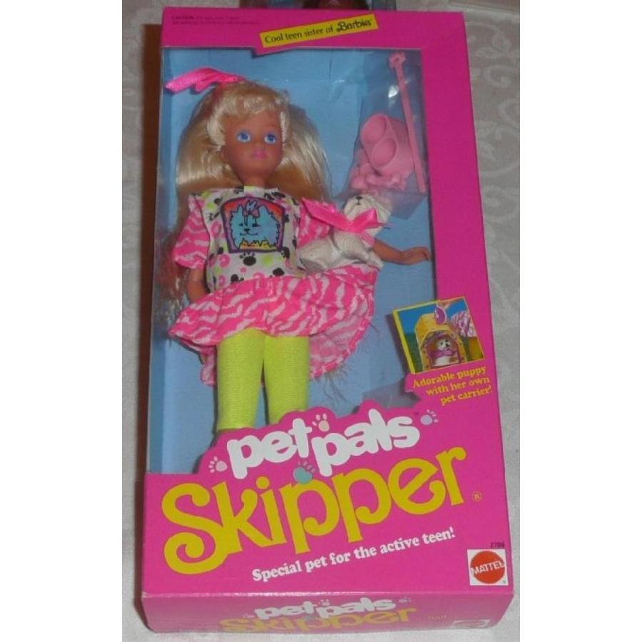 バービー人形 おもちゃ 着せ替え Barbie Pet Pals SKIPPER Doll w Dog & Accessories (1991) 輸入品