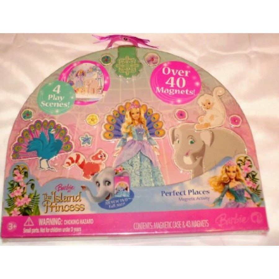 バービー人形 おもちゃ 着せ替え Barbie as The Island Princess Perfect Places Magnetic Activity Playset 輸入品