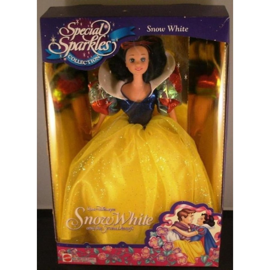 バービー人形 おもちゃ 着せ替え Special Sparkles Collection Snow 白い Disney doll 輸入品
