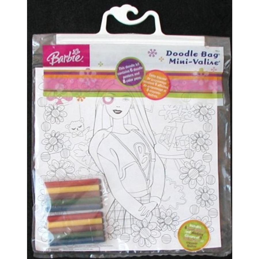 バービー人形 着せ替え おもちゃ Barbie Doodle Kit - 6 Posters and 8 Colo赤 Markers 輸入品