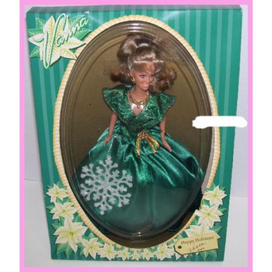 バービー人形 着せ替え おもちゃ Happy Holidays Vanna 白い Wheel of Fortune Barbie Doll in 緑 Dress 輸入品