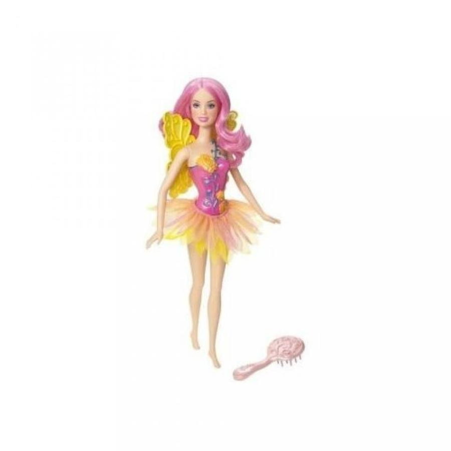 バービー人形 おもちゃ 着せ替え Barbie Fairy Doll - ピンク 黄 輸入品