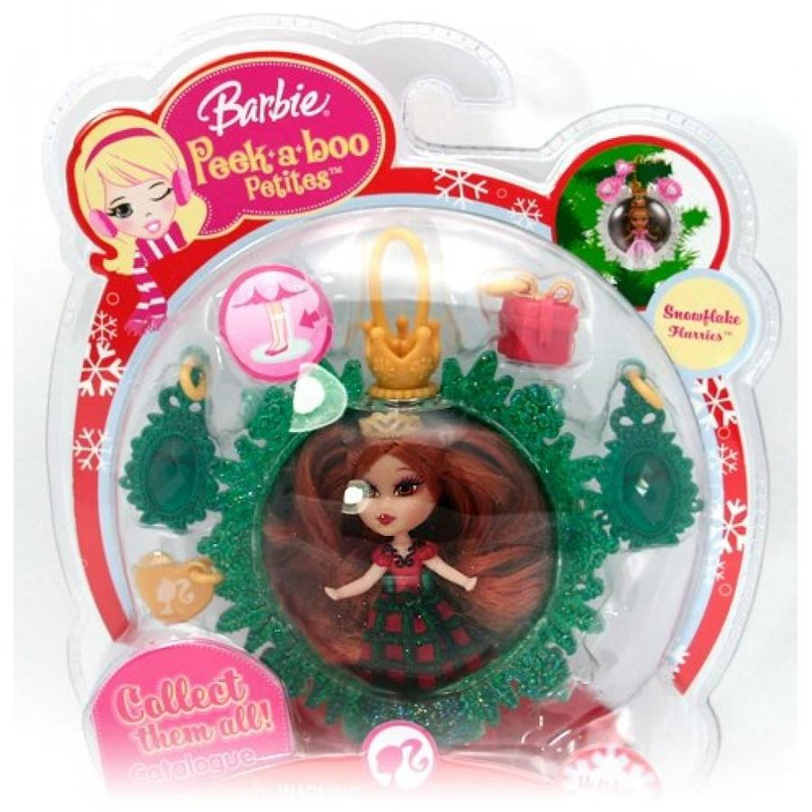 バービー人形 着せ替え おもちゃ Barbie Peekaboo Petites Snowflake Flurries Doll Collection - #31 Holiday Joy 輸入品