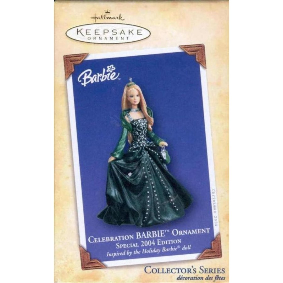 バービー人形 着せ替え おもちゃ Hallmark Keepsake Ornament - Celebration Barbie 2004 (QX8604) 輸入品