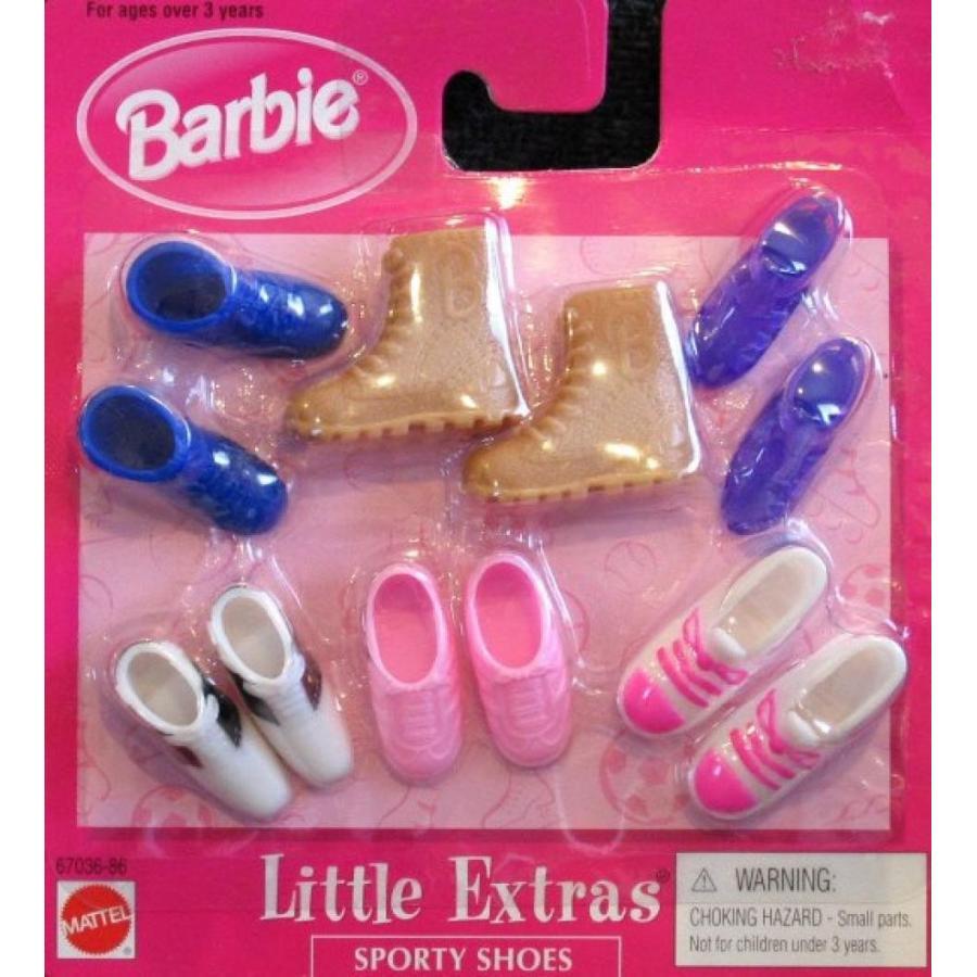 バービー人形 おもちゃ 着せ替え Barbie Little Extras SPORTY SHOES - 6 Assorted Pairs (1998 Arcotoys, Mattel) 輸入品