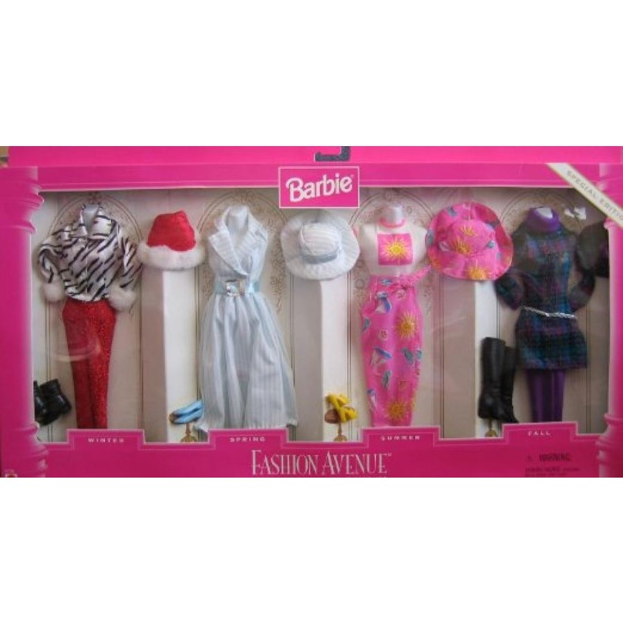 バービー人形 おもちゃ 着せ替え Barbie-Fashion Avenue-Spectacular Seasons Gift Set-Special Edition-1996 輸入品
