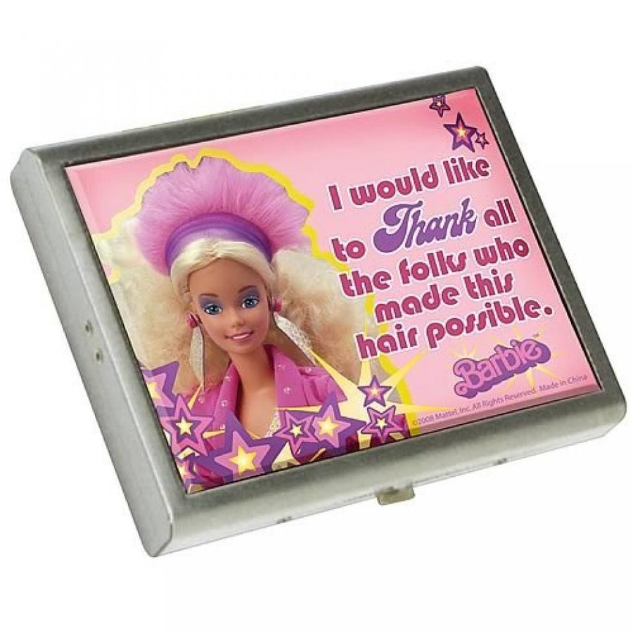 バービー人形 おもちゃ 着せ替え Barbie Metal Wallet Box by Vandor Lyon Company - I Would Like To Thank 輸入品