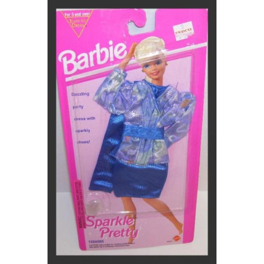 バービー人形 着せ替え おもちゃ Barbie Doll Sparkle Pretty 青 & Multi-colo赤 Print Jack