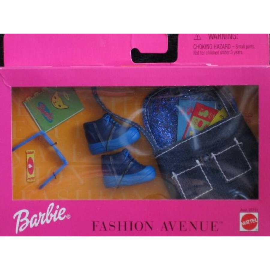 バービー人形 着せ替え おもちゃ Barbie Fashion Avenue School Rules Accessories Pack (1999) 輸入品