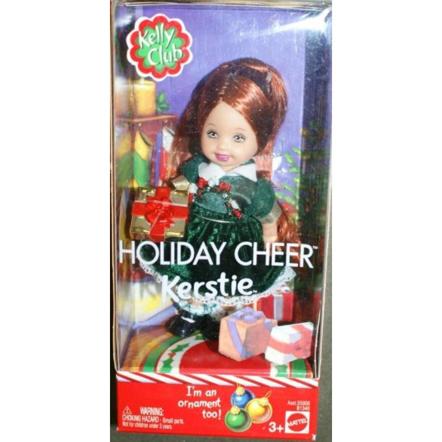 バービー人形 着せ替え おもちゃ Barbie Kelly Club Holiday Cheer Kerstie doll ornament too 輸入品