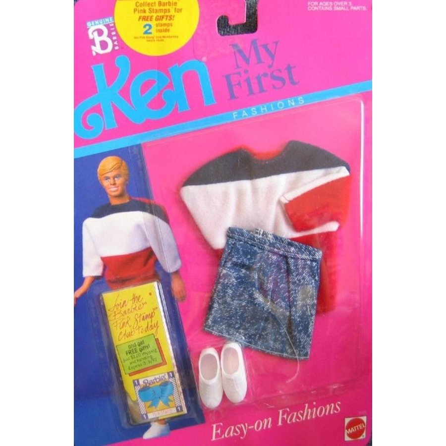 バービー人形 着せ替え おもちゃ Barbie KEN Outfit Easy on Fashions 1989 Denim 輸入品