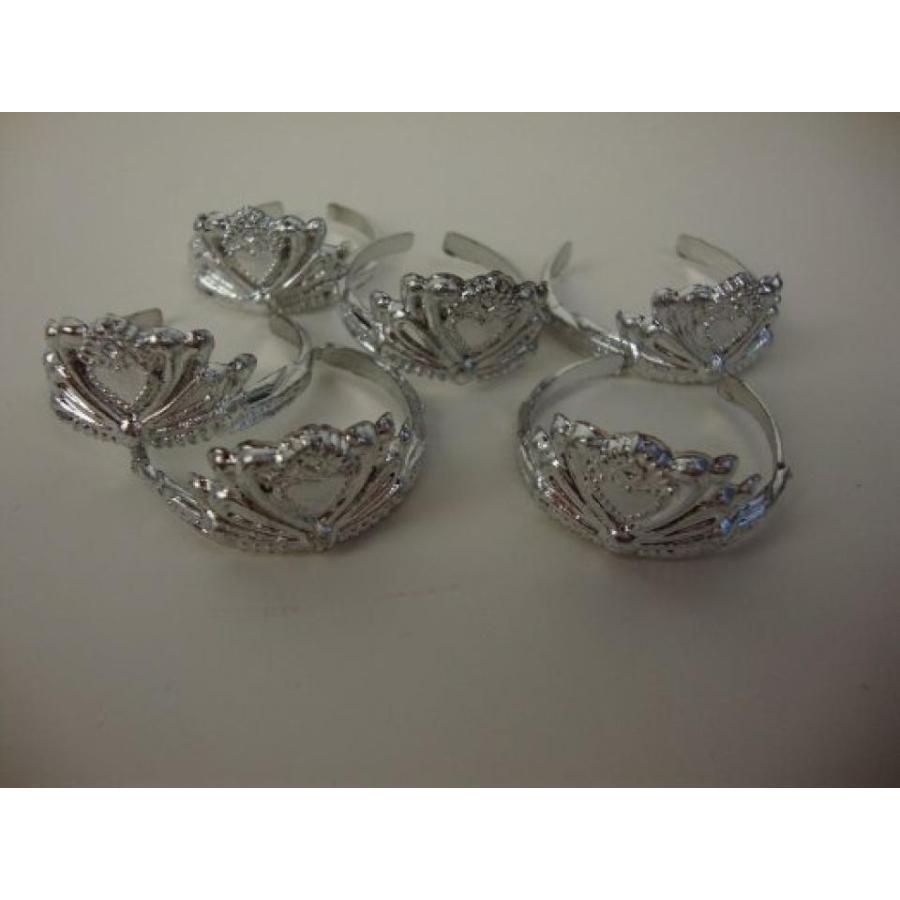 バービー人形 着せ替え おもちゃ A 6 Pack of Doll Crowns in 銀 Made to Fit the Barbie Doll 輸入品