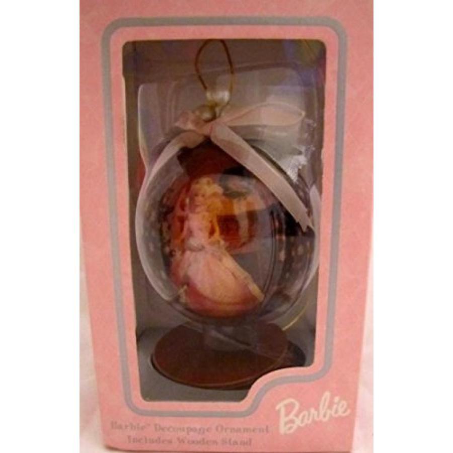 バービー人形 着せ替え おもちゃ Barbie Decoupage Ornament & Wood Stand ~ Wal-Mart 35th Anniversary 1997 輸入品