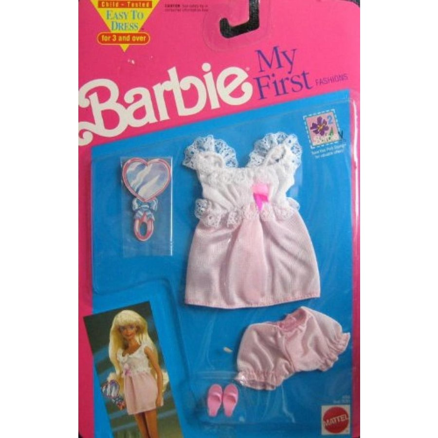 バービー人形 おもちゃ 着せ替え Barbie Outfit My First Fashions Easy to Dress Mint on Card 1991 輸入品
