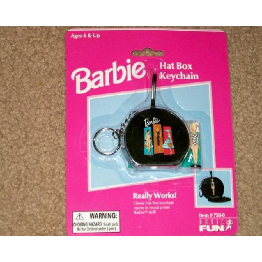 バービー人形 おもちゃ 着せ替え Barbie Hat Box Keychain with Mini Barbie Doll 輸入品