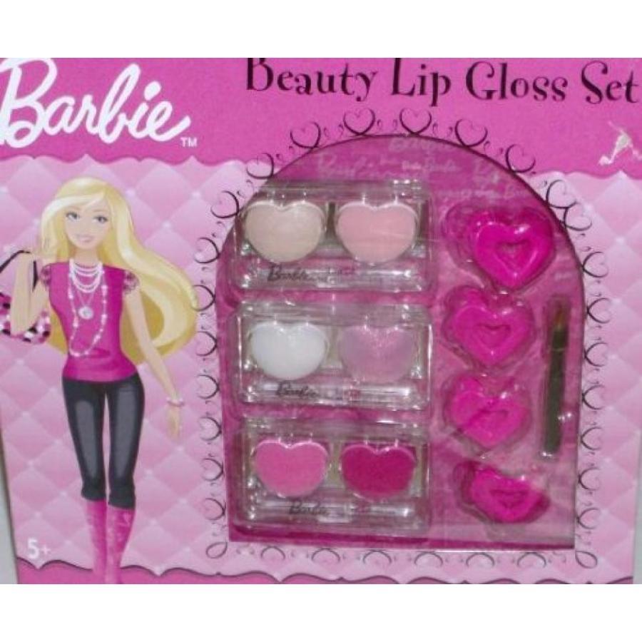 バービー人形 着せ替え おもちゃ Barbie Beauty Lip Gloss Cosmetic Set Girls Make-up Lip Gloss Makeup Hair Clips 輸入品