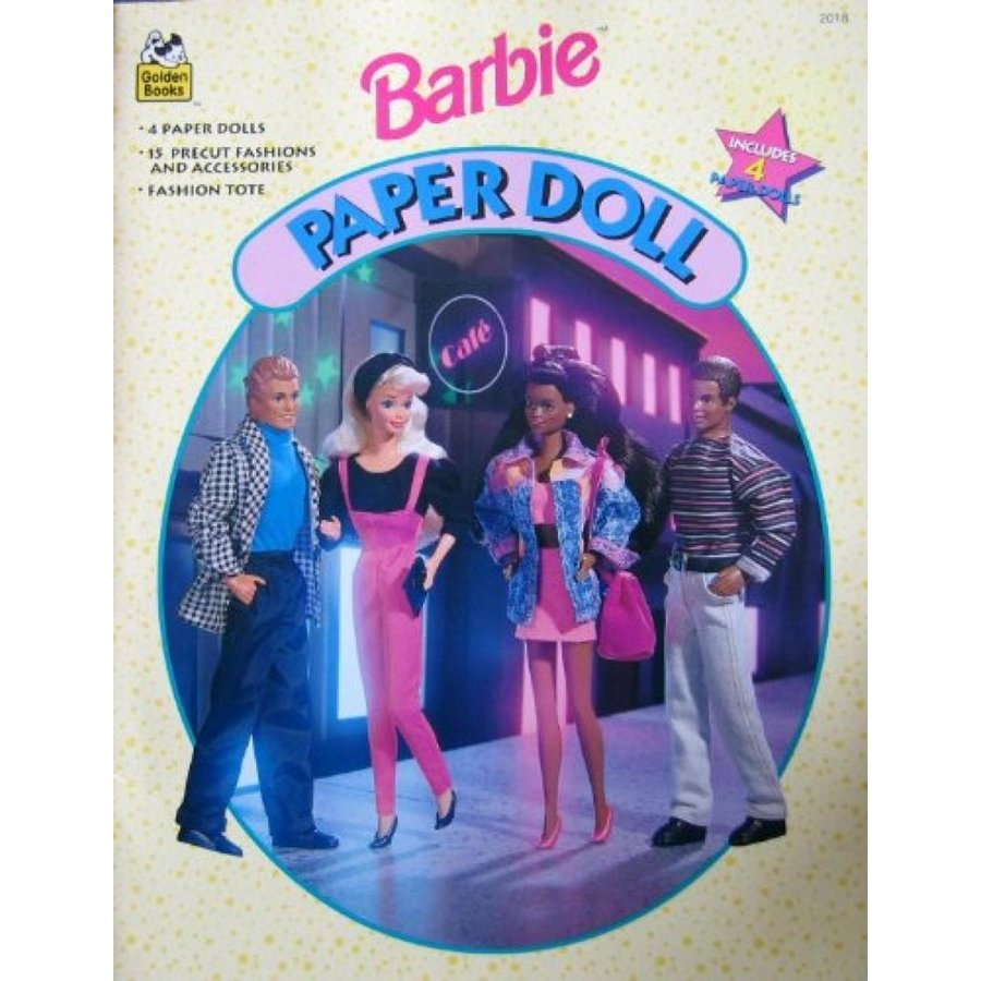 バービー人形 着せ替え おもちゃ Barbie Paper Doll Book w Ken, Teresa, Steven & Barbie Paper Dolls (1994) 輸入品