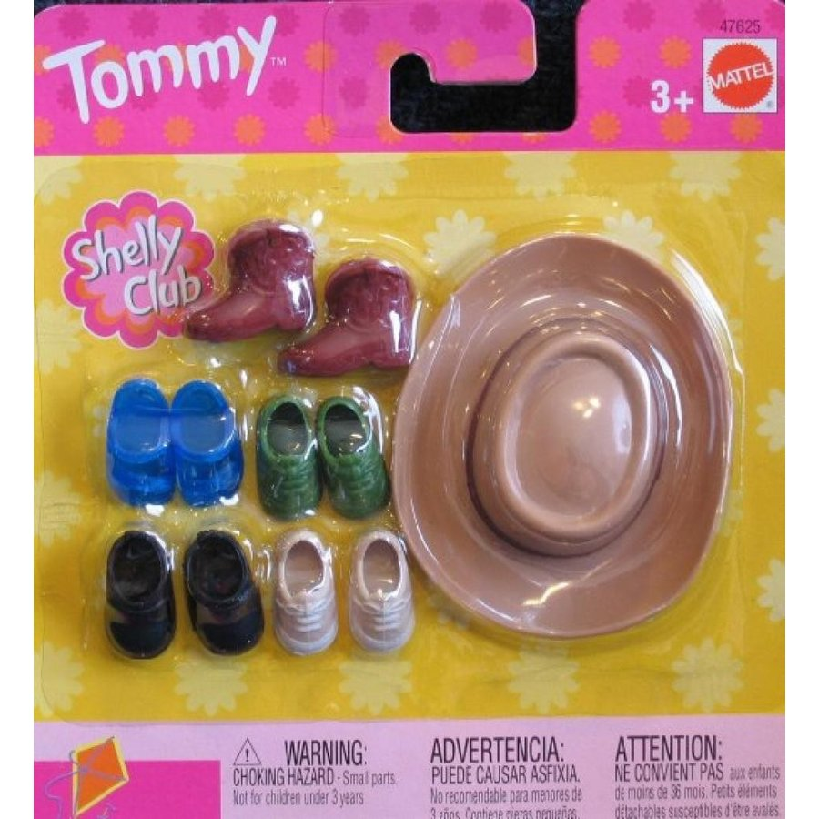 バービー人形 おもちゃ 着せ替え Barbie Shelly Club TOMMY DOLL Shoes, Boots & Cowboy Hat (2002) 輸入品