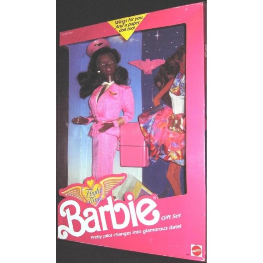 バービー人形 おもちゃ 着せ替え Flight Time 黒 Barbie Gift Set #9916 (1989) 輸入品