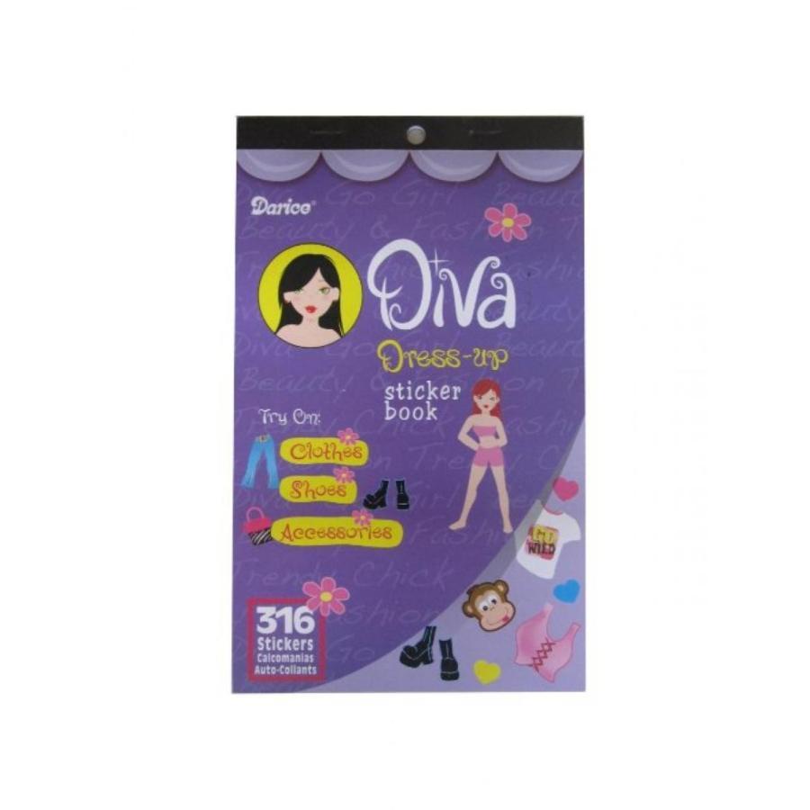 バービー人形 着せ替え おもちゃ WeGlow International Sticker Book - Diva Dress Up - 316 pieces (4 packs) 輸入品