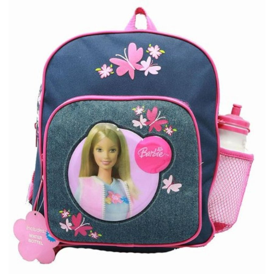 バービー人形 着せ替え おもちゃ Small Backpack - Barbie - with Water Bottle - Denim & Flowers 輸入品
