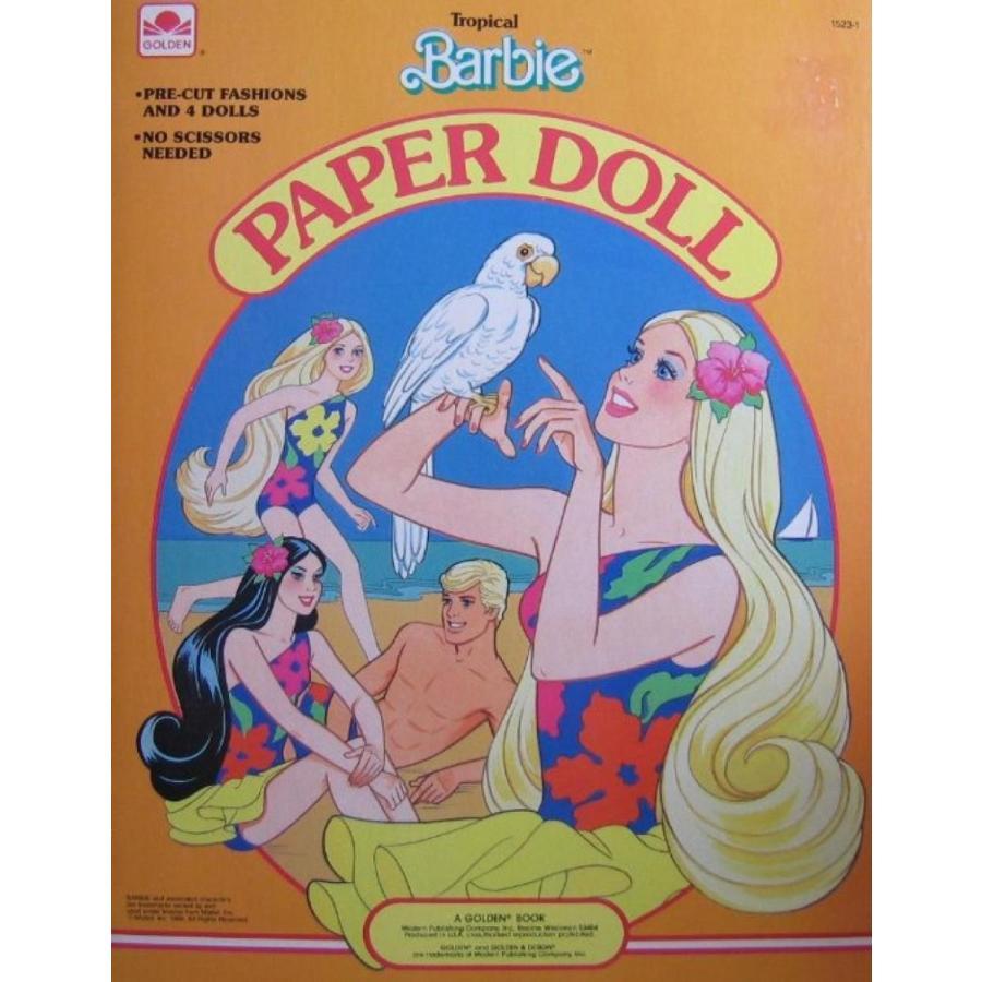 バービー人形 着せ替え おもちゃ Tropical BARBIE Paper Doll Book w Barbie, Ken, Miko & Skip