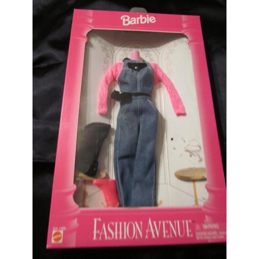 バービー人形 おもちゃ 着せ替え 1995 Barbie Fashion Avenue denim overalls set 輸入品