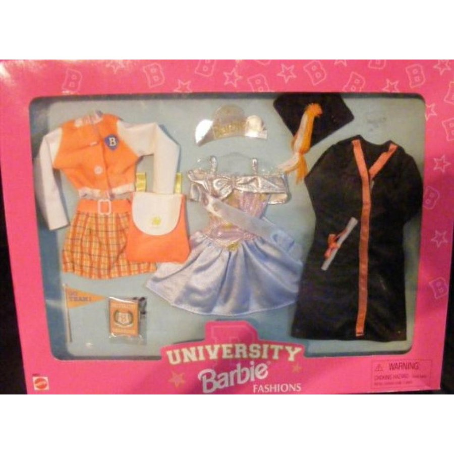 バービー人形 おもちゃ 着せ替え Barbie University Fashion Giftset (1998) 輸入品