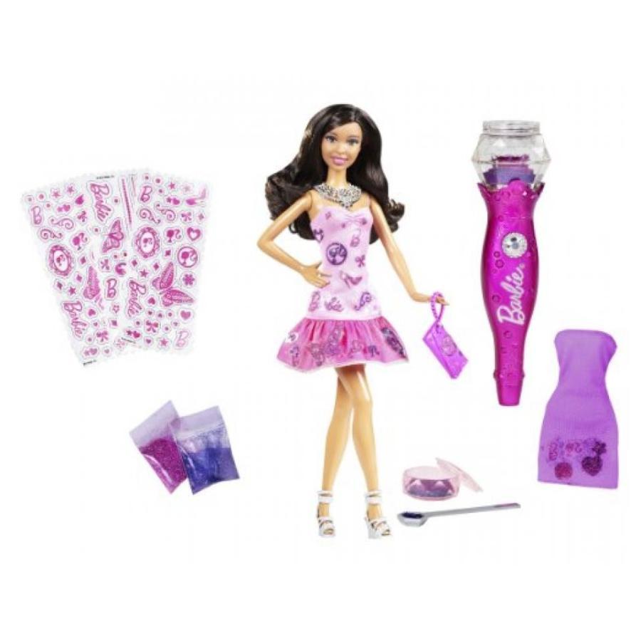 バービー人形 おもちゃ 着せ替え Barbie Loves Glitter Glam Vac and African-American Doll 輸入品