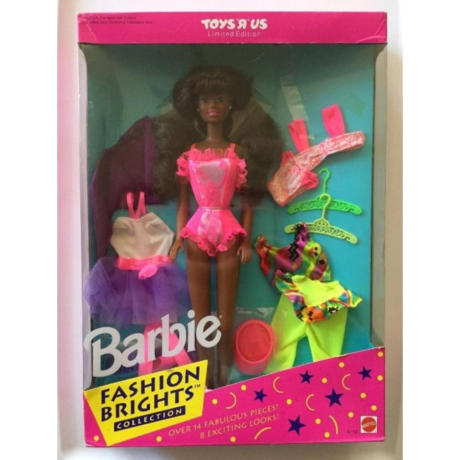バービー人形 おもちゃ 着せ替え Toys R Us Limited Edition African American Fashion Brights Barbie Doll Collection 輸入品